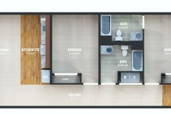 2 bedroom apartment layout